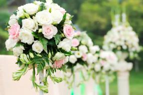 свадебный, розы, букет