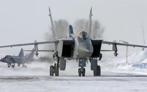 миг 31, авиация, боевые самолёты, гуревич, истребитель, аэродром, миг, 31, микоян