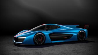 pininfarina h2 speed 2018, автомобили, pininfarina, speed, h2, синий, 2018, суперкар