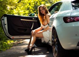 эротика, девушки и автомобили, alfa, romeo