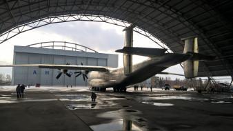 антонов, ан 22, ангар, самолет