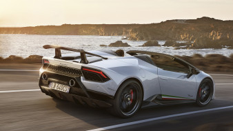 Spyder, Huracan, Lamborghini, белый, 2019, Performante