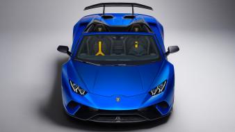 Huracan, Lamborghini, Spyder, blue, 2019, Performante