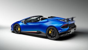 Huracan, Lamborghini, Performante, 2019, blue, Spyder