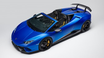 Performante, Spyder, 2019, blue, Lamborghini, Huracan