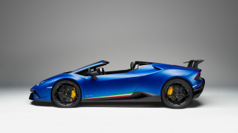 Spyder, Performante, 2019, blue, Lamborghini, Huracan