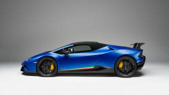 2019, blue, Lamborghini, Huracan, Performante, Spyder