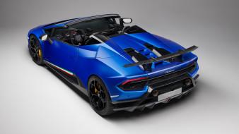 Performante, blue, 2019, Lamborghini, Huracan, Spyder