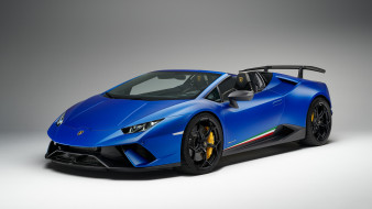 Lamborghini, Performante, Spyder, Huracan, 2019, blue