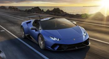 Lamborghini, Huracan, Performante, Spyder, 2019, blue