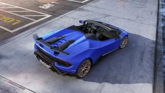 Lamborghini, 2019, blue, Spyder, Huracan, Performante