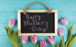 праздничные, день матери, gift, тюльпаны, tulips, pink, wood, fresh, розовые, mother's, day, цветы, flowers, spring, доска, подарок, tender