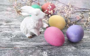 праздничные, пасха, easter, wood, яйца, крашеные, decoration, весна, spring, цветы, eggs, happy, flowers