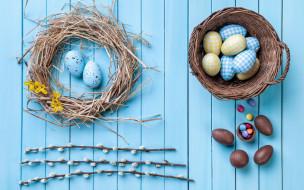 праздничные, пасха, candy, decoration, colorful, шоколад, верба, wood, easter, яйца, chocolate, конфеты, eggs, spring, happy