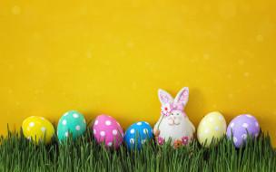праздничные, пасха, весна, трава, decoration, wood, easter, яйца, крашеные, happy, spring, eggs