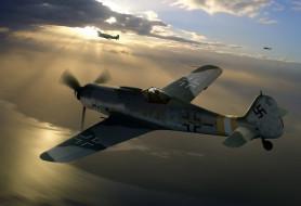WW2, истребитель-моноплан, Fw, 190D-9, Focke -Wulf, Luftwaffe