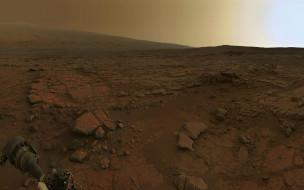 рассвет на Марсе, марсоход, Марс