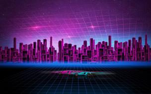 векторная графика, город , city, город, автомобили, здания, concept, art