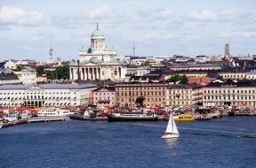 города, хельсинки , финляндия, залив, суда