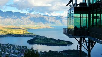 города, квинстаун , новая зеландия, панорама