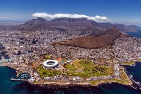 города, кейптаун , юар, панорама