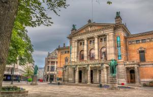 города, осло , норвегия, памятники, площадь