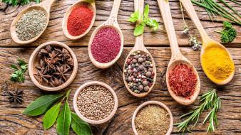 еда, крупы,  зерно,  специи,  семечки, анис, розмарин, карри, перец