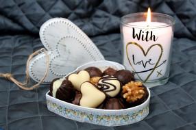 еда, конфеты,  шоколад,  сладости, шоколадные, свеча
