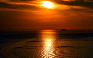 природа, восходы, закаты, закат, море