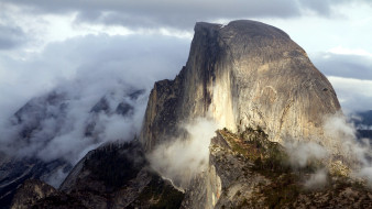 природа, горы, туман, облака