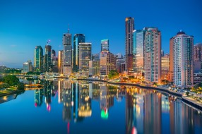 brisbane, города, брисбен , австралия, простор