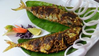 жареная, индийская, кухня, рыба