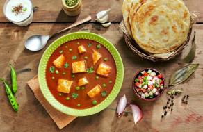 индийская, лепешки, кухня, суп