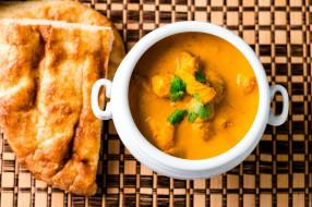 лепешка, суп, кухня, индийская