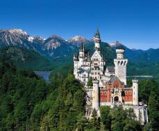 города, замок нойшванштайн , германия, castle, neuschwanstein