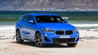 2018 bmw x2 sdrive20i m sport, автомобили, bmw, бмв, побережье, синий, m-sport, sdrive20i, x2, 2018