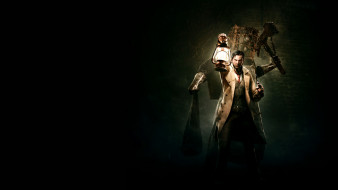 мужчина, фон, существо, лампа, взгляд