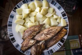 картофель, рыба