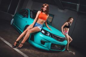 автомобили, -авто с девушками, красивая, девушка