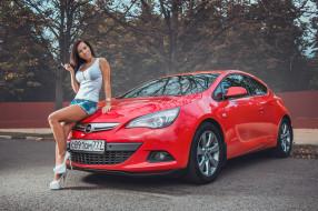 автомобили, -авто с девушками, astra, liza