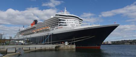 queen mary ii, корабли, лайнеры, круиз, лайнер