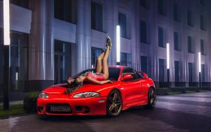 обои для рабочего стола 2048x1280 автомобили, -авто с девушками, eclipse, nadya