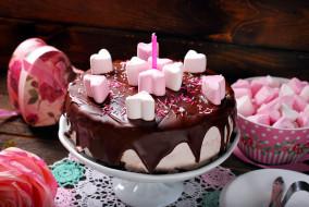 лакомство, торт, зефир