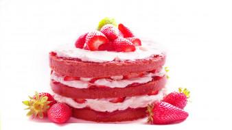 лакомство, торт, клубника