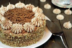 ореховый, торт, лакомство