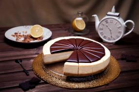 апельсин, шоколад, торт, лакомство