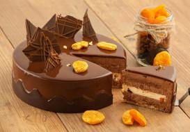 шоколад, курага, лакомство, торт