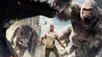movies, rampage, 2018, dwayne johnson, фантастика, рэмпейдж, дуэйн джонсон