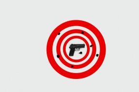фон, мишень, пистолет