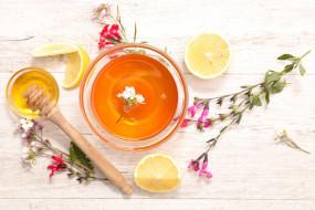 лимон, мед, цветочный